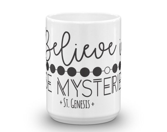 Saint Genesis Quote Mug| Patron Saint of Theater| Catholic Mug| Rosary Mug| Catholic Gift| Confirmation Gift| Christian gift