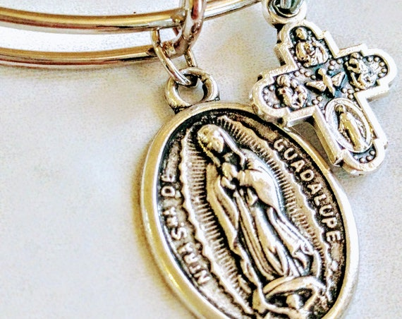 Our Lady Guadalupe| Helper of Pregnant Women|Confirmation gift| wire bracelets| Catholic Bracelets| Catholic Jewelry| Catholic Bangle