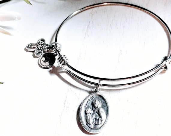Saint Ann Bangle | Patron Saint of mothers |grandparents |pregnant and barren women| | Saint Bangle | Confirmation gift| Mother Gift
