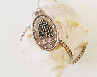 Miraculous Medal Necklace|  Catholic Medal| Catholic Jewelry| Catholic Necklace| Catholic Gift| Miracle Necklace| Confirmation gift
