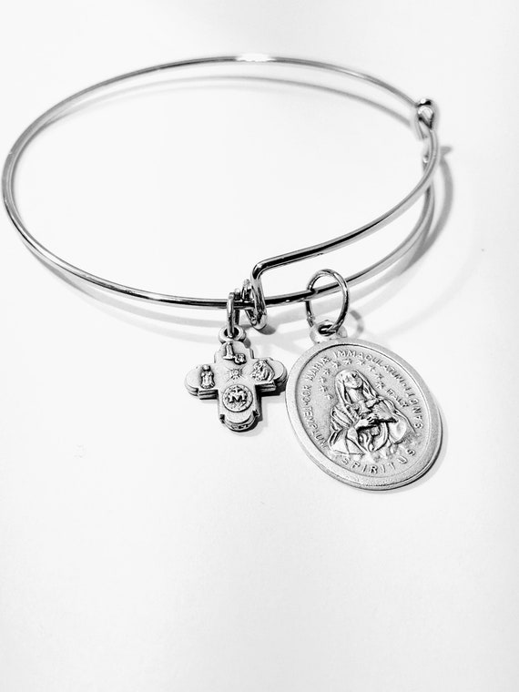 Immaculate Mary Bangle| Christmas Gift | Catholic Gift| Patroness of the United States| December 8th| Marien Gift