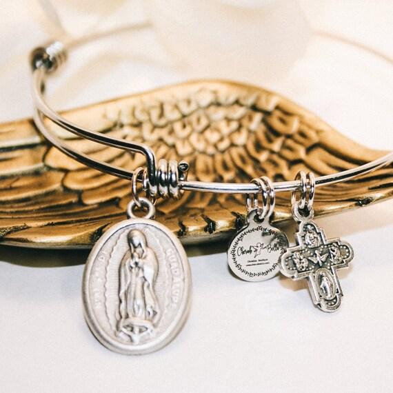 Our Lady Guadalupe| Helper of Pregnant Women|Confirmation gift| wire bracelets| Catholic Bracelets| Catholic Jewelry| Catholic Bangle