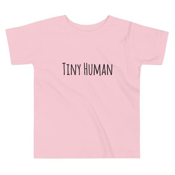 Tiny Human Toddler Short Sleeve Tee Shirt  Mom and Me Tee  Toddler Shirt to match mom