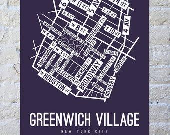 Subway Map Greenwich Village.Greenwich Village Etsy