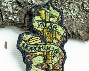 Embroidered Patch Valar Morghulis, Morale Patches for military airsoft games, custom moral patches, EDC patch, survivor GoTh patch Boomyland