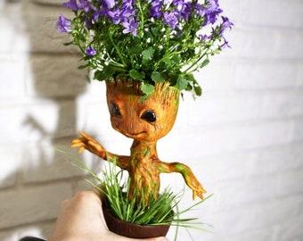 Groot Flower Pot Etsy