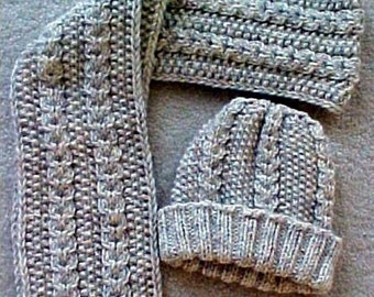 Aran Hat and Scarf