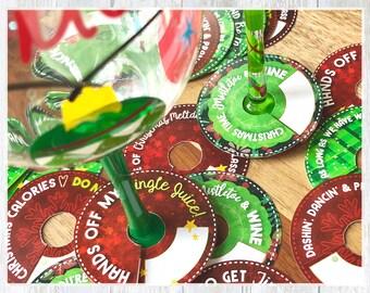 christmas party name tag set christmas name tags christmas etsy
