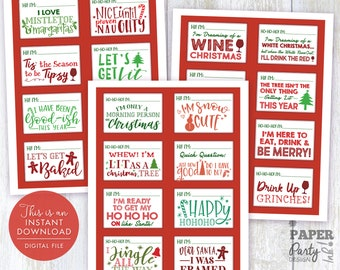 Christmas Name Tags Etsy
