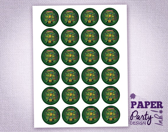 photograph relating to Printable Ninja Turtles identified as Printable Teenage Mutant Ninja Turtles Cupcake Toppers, Electronic TMNT Cupcake Toppers, Printable TMNT Birthday Occasion, TMNT Desk Confetti