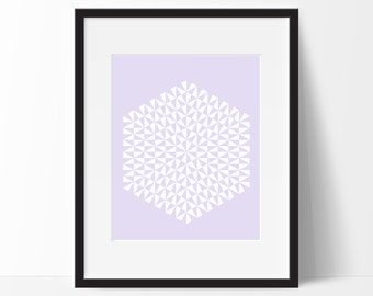 Geometric Print Art, Geometric Art, Geometric Printable, Digital Art Print, Geometric Print, Instant Download, Modern, Violet