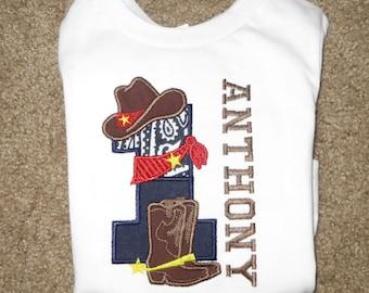 81517da867f3f Cowboy 1st Birthday Personalized Shirt