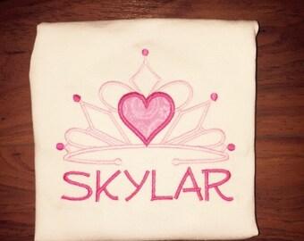Princess Tiara Personalized Shirt