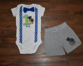 Puppy Dog Pals Inspired Birthday Outfit with Shorts