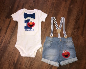 Elmo Inspired Birthday Outfit
