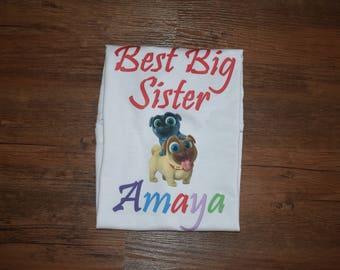 Big Sister Puppy Dog Shirt