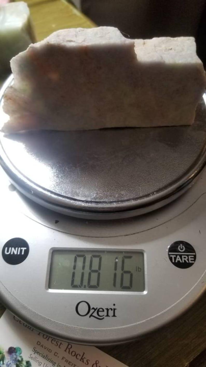 0.8lb Guatemala jadeite rainbow lilac jade rough slab