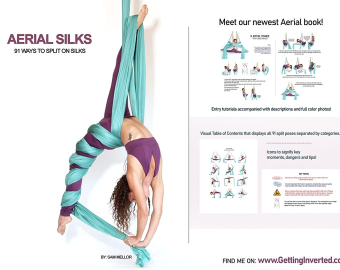 Featured listing image: AERIAL SILKS BOOK: 91 Ways To Split on Silks  [Free Domestic Shipping]