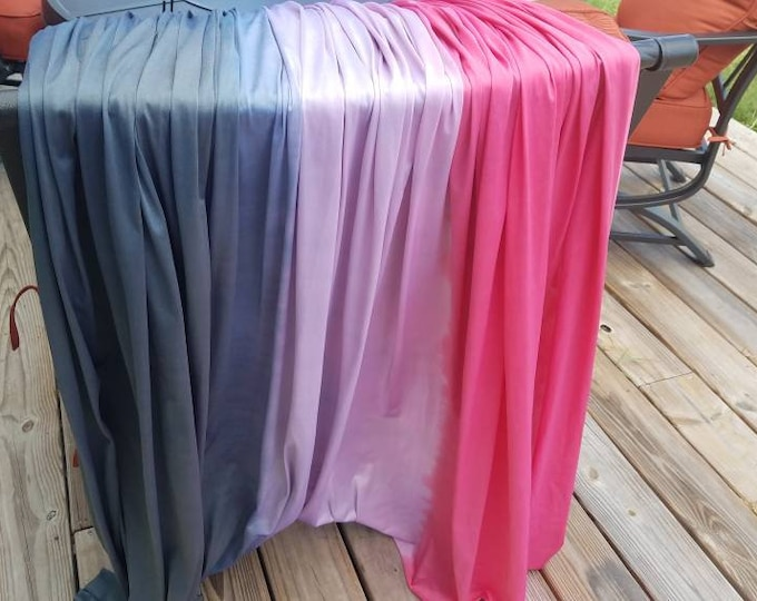 Navy/Black - Fuschia/Red Tones Horizontal Ombre - 5yrds