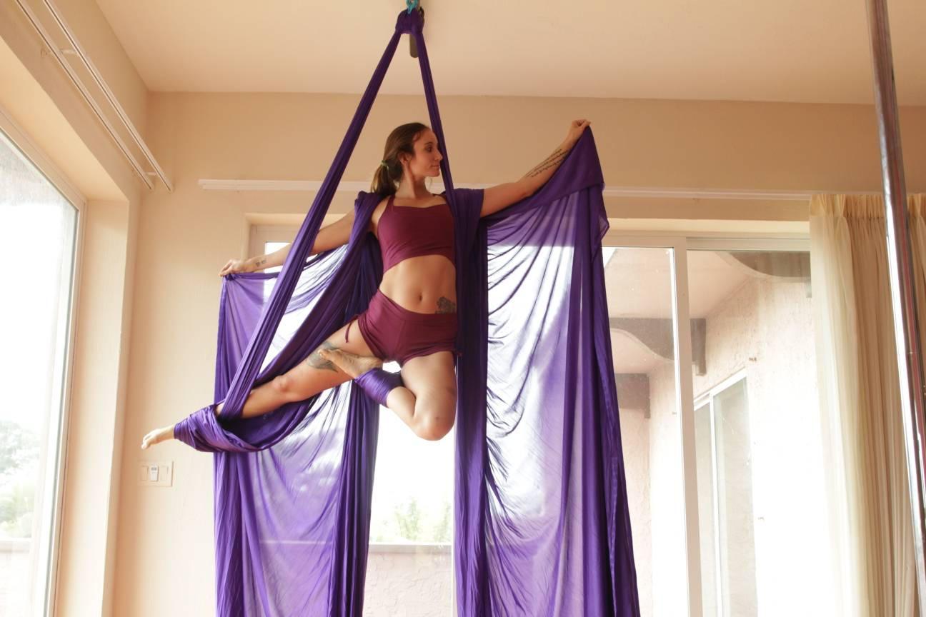 Purple Aerial Silk 13yrds Sale