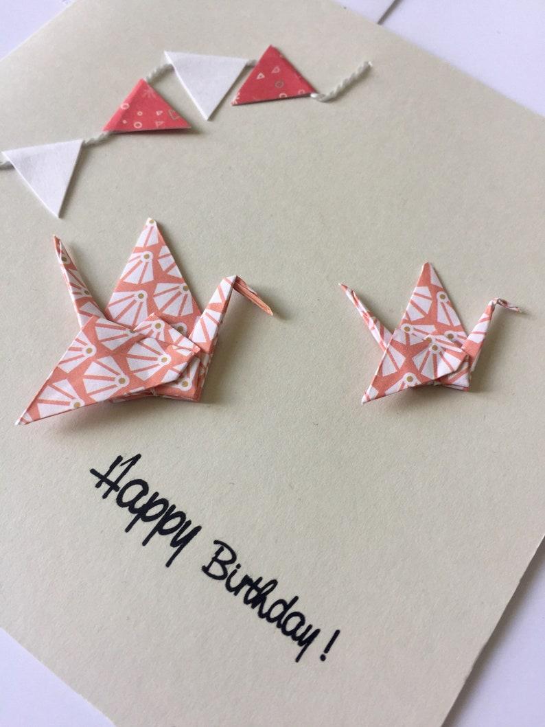 handmade origami made birthday greeting card  etsy