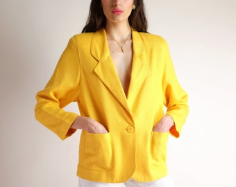 eff028f4c31 Minimal Yellow Blazer
