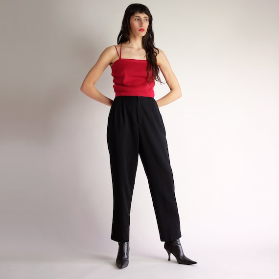 ff6b9a82d7 High Waist Trousers Vintage 90s Minimal Pleated Pants Simple | Etsy