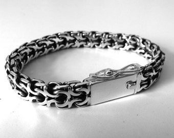 f33bd9b4737a Men s Silver Bracelet - 925 sterling silver. Big