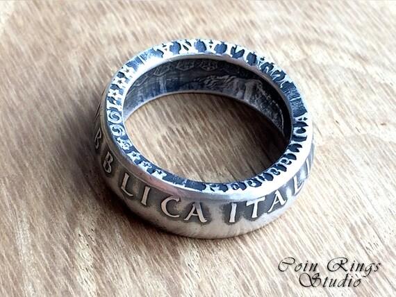 Italy Coin Ring Italian Silver 500 Lire Handmade Rings Etsy