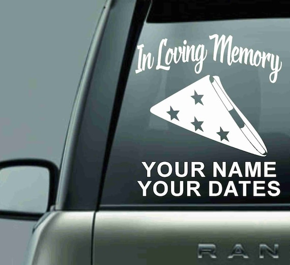 In Loving Memory Car Decals >> In Loving Memory Car Decal Memorial Decal Remembrance Decal Memory Decal In Memory Sticker In Memory Of Friend Car Decal For Women
