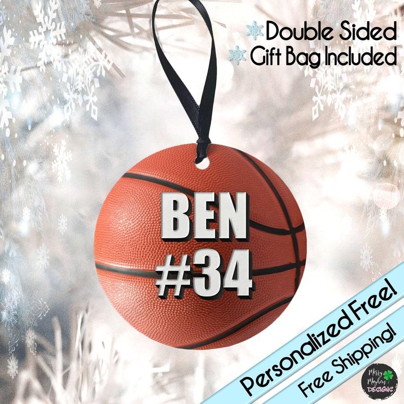 Personalized Basketball Ornament,Girls Basketball,Basketball Gift,Basketball Coach,Basketball Team Gift,Basketball Gifts,Personal Ornament