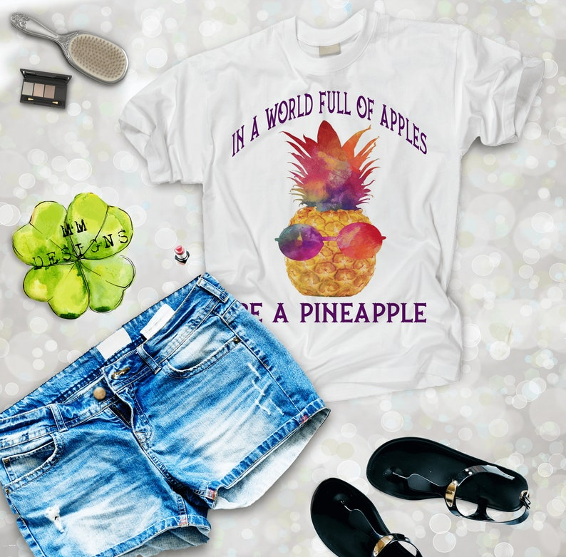 9edb184f Pineapple Shirt Graphic Tees for Women Funny Shirt | Etsy