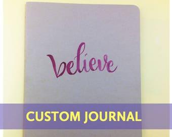 Custom Calligraphy Kraft Art Journal
