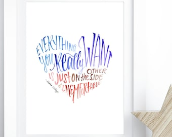 Comfort Zone - Inspirational Art