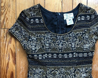 742c192c05974f Vintage Adrianna Papell Evening beaded top