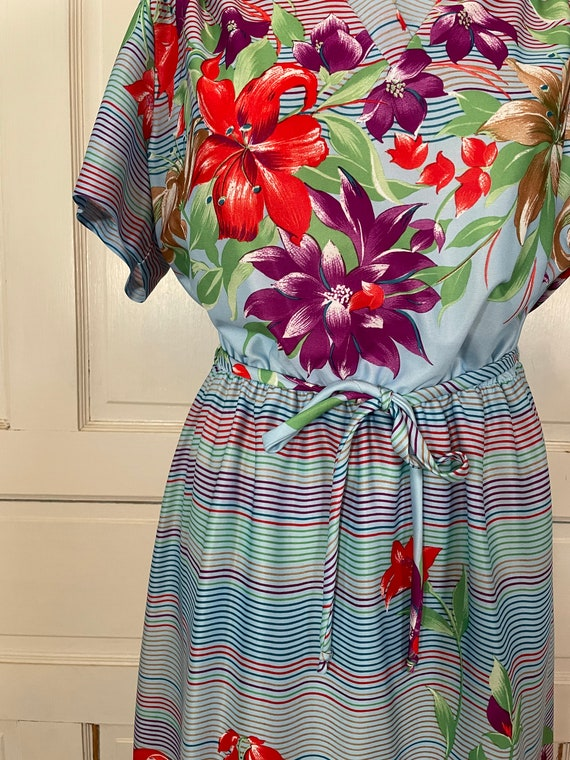 1970s Vintage Ms Claire Hawaiian Style Short Slee… - image 6