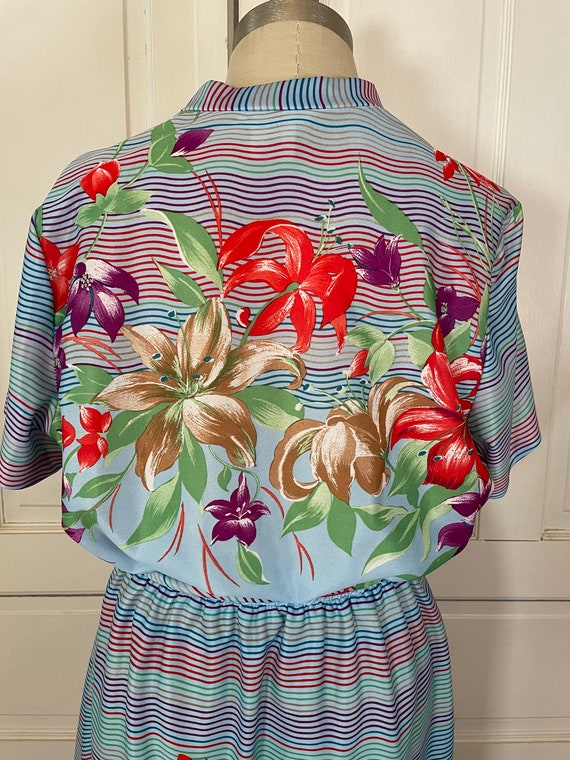 1970s Vintage Ms Claire Hawaiian Style Short Slee… - image 9