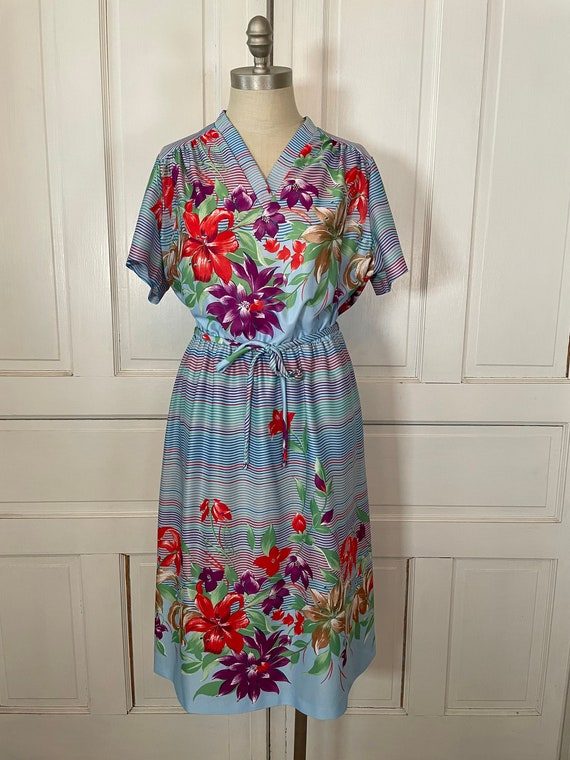 1970s Vintage Ms Claire Hawaiian Style Short Slee… - image 2