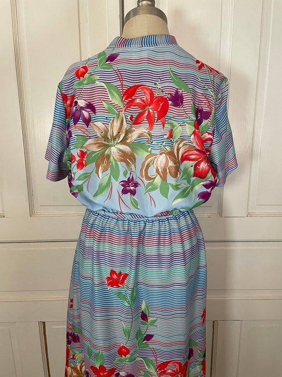 1970s Vintage Ms Claire Hawaiian Style Short Slee… - image 8