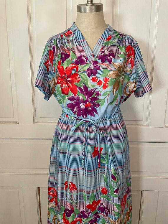 1970s Vintage Ms Claire Hawaiian Style Short Slee… - image 3
