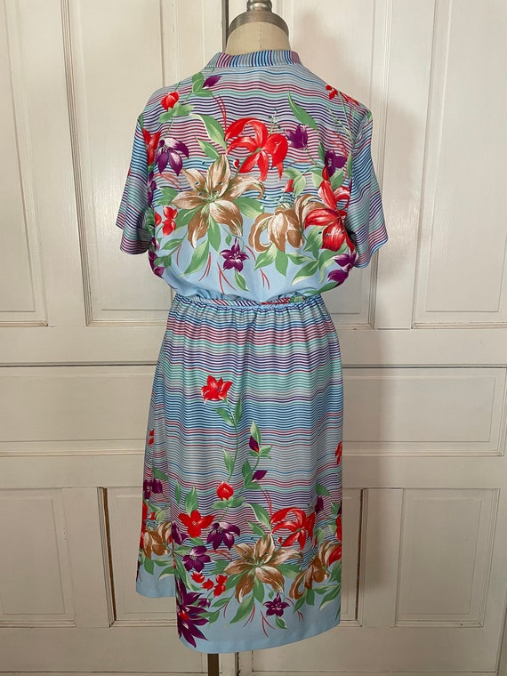 1970s Vintage Ms Claire Hawaiian Style Short Slee… - image 7