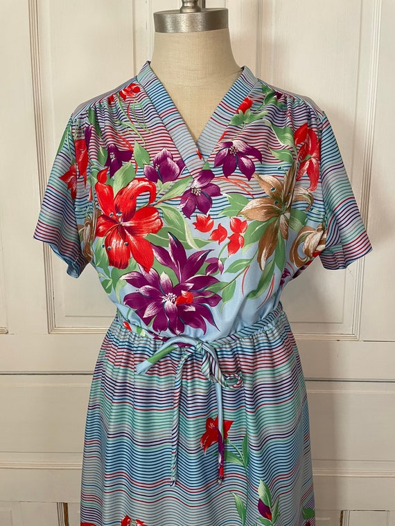 1970s Vintage Ms Claire Hawaiian Style Short Slee… - image 4