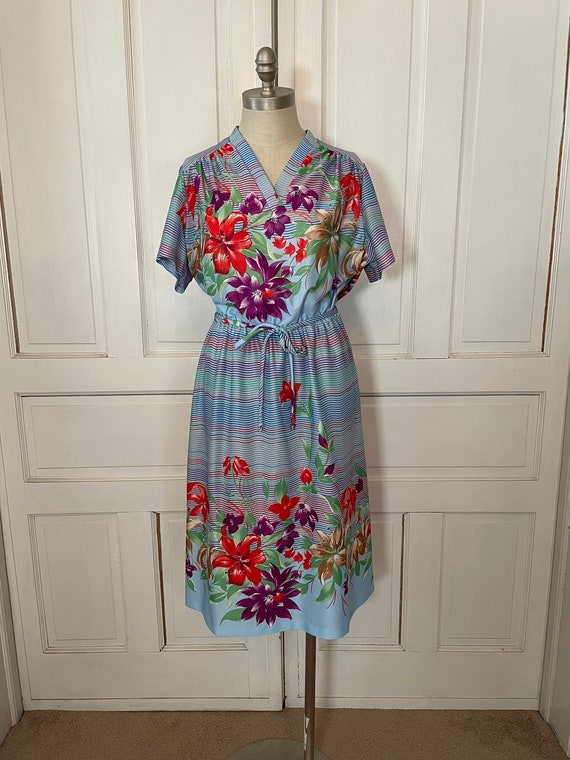 1970s Vintage Ms Claire Hawaiian Style Short Slee… - image 1