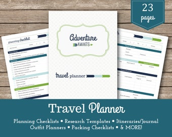 printable travel packing lists family vacation travel etsy