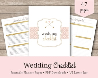 wedding checklist wedding planning checklist wedding printable wedding to do list 2018 calendar 2019 calendar wedding schedule