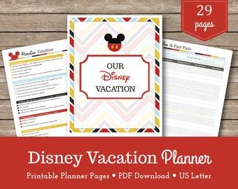 Disney World Vacation Planner / Travel Planner /Walt Disney World / Planning / Printables / Organizer / Instant Download