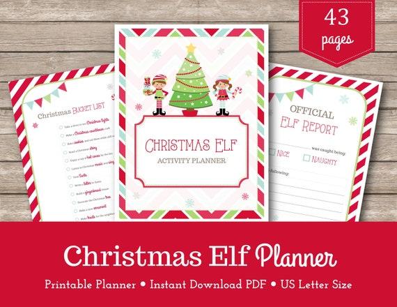Printable Elf Planner  Christmas Planner  Elf Shenanigans