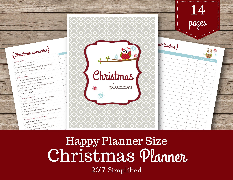 Christmas Planner / Happy Planner / Christmas Printable /