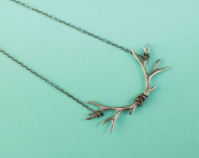 Along the way antler necklace
