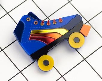 Roller Skate Brooch in Lasercut Acrylic
